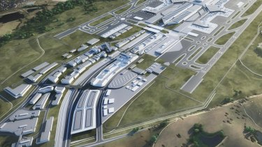 Conceptual render of Western Sydney Airport business park' Image: WSA Co .