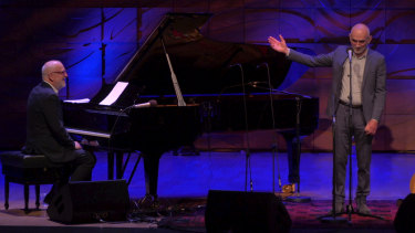 Paul Kelly and Paul Grabowsky perform online at the Melbourne Recital Centre
