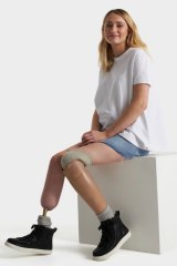 Brisbane teenager Tayla Egan, 17, has had her legs amputated, is now modelling adaptive clothing.