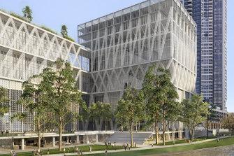 The refined design of the new Parramatta Powerhouse Museum.