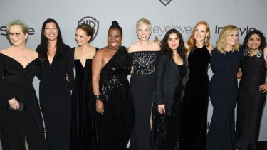 Actresses wore black and many brought activists as their dates to the Golden Globes in support of Time's Up.