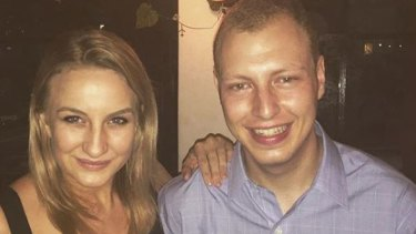 Aitken Radburn with her ex-boyfriend Dean Shachar, who now works as an adviser to Pru Goward.