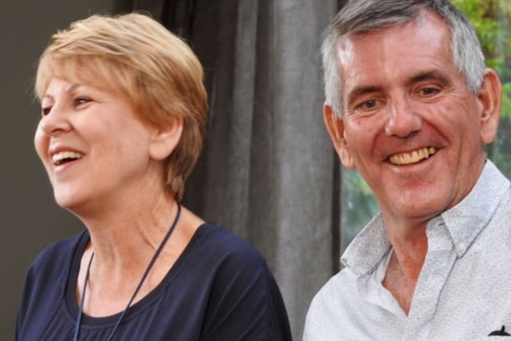 Mr Fry and his wife Ann recently.