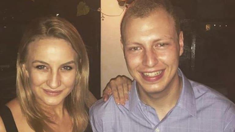 Aitken Radburn with her ex-boyfriend Dean Shachar, who now works as an adviser toPru Goward.