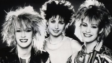 Sara Dallin, Keren Woodward and Siobhan Fahey of Bananarama back in the '80s.
