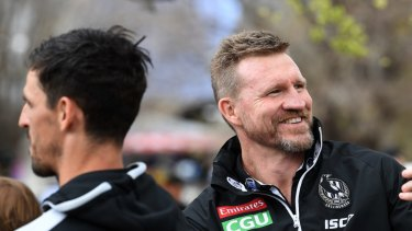 Bouncing back: few would have predicted Nathan Buckley and Collingwood taking to the MCG in late September.