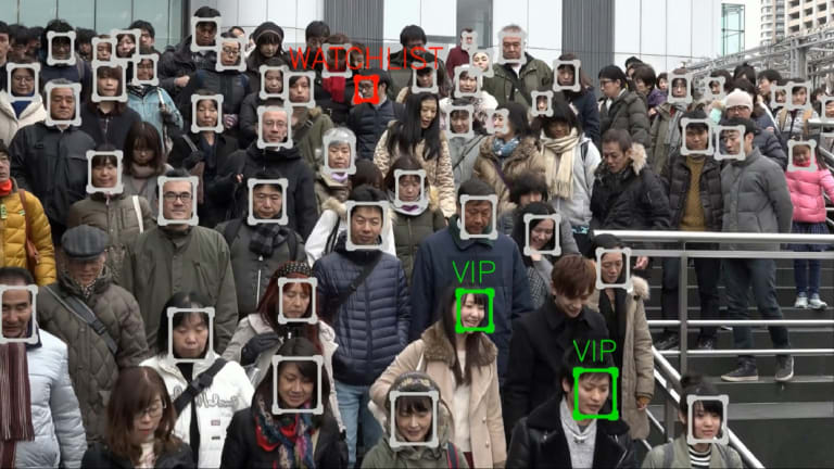 NEC's technology can match faces to a database of billions, virtually instantly.