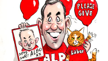 Flying the flag: The ALP's Jim Chalmers.