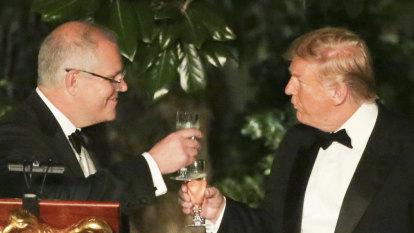 Donald Trump toasts Australia at opulent state dinner in Washington