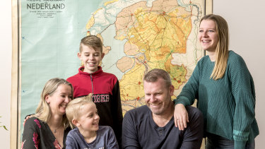 Dennis Parlevliet, his wife Liesbeth and their children Zoe, Finn and Neo faced a lengthy process to obtain an exemption to travel to the Netherlands.