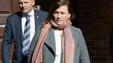 Michael McGurk's widow Kimberley outside court on Thursday.