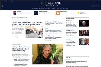The new look to the top of The Age