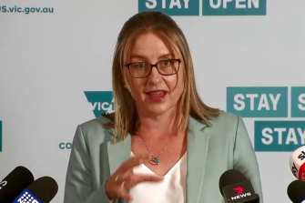 Acting Premier Jacinta Allan provides a health update.