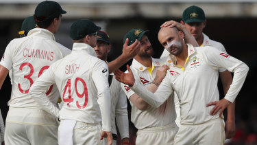 Nathan Lyon equalled Dennis Lillee's Test tally of 355 wickets on Thursday.