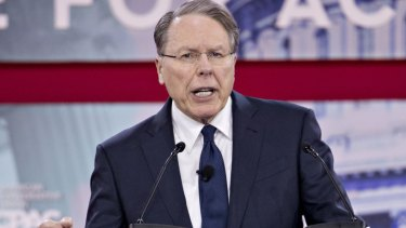 Wayne LaPierre, chief executive officer of the National Rifle Association (NRA), speaks at the Conservative Political Action Conference (CPAC) in National Harbor, Maryland.