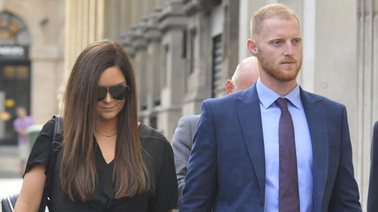 'Aggressor': Ben Stokes and wife Clare arrive at Bristol Crown Court