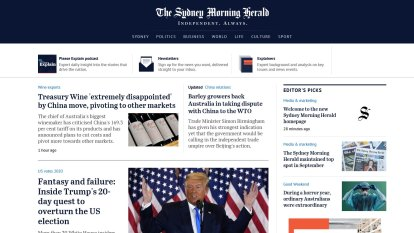 Welcome to the new Sydney Morning Herald homepage