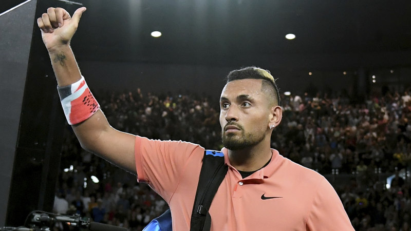Rehabilitated Kyrgios going it alone for the fans? Now that's audacious
