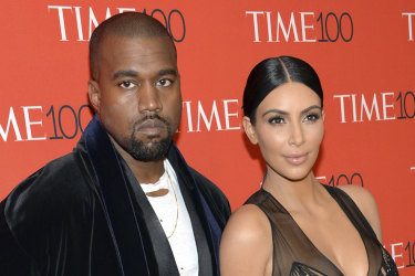 Kanye West and Kim Kardashian West, pictured in 2015.