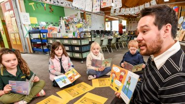 Students learn to read with phonics.