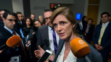 Former US ambassador to the UN Samantha Power in 2016.