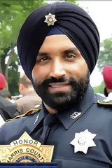 Deputy Sandeep Dhaliwal was shot and killed while making a traffic stop near Houston.