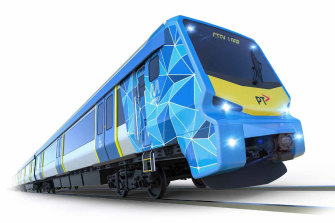 Leaked artist's impression of the preliminary design of the new X'Trapolis 2.0 trains.