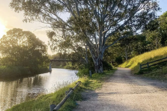 By the Maribyrnong River.