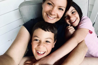 """Natasha Morgan says her two children have been able to """"shine"""" in their small community."""