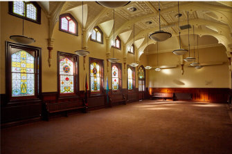 The chapel of what was the St Vincent's Boys' Orphanage in Cecil Street, South Melbourne.