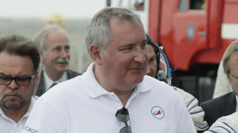 Roscosmos state space corporation head Dmitry Rogozin.
