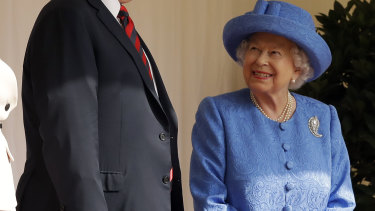 President Trump meets with the Queen in London.