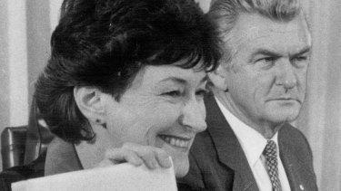 Susan Ryan and Bob Hawke in 1984.
