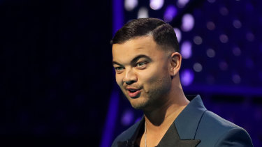 Hilarious: Singer Guy Sebastian was a terrific ARIAs host.