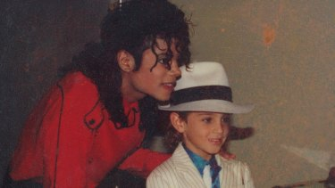 Michael Jackson with Wade Robson in Leaving Neverland.