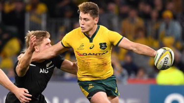 Prodigal son: James O'Connor's ability to hold off the defence with his offloads created plenty of space for Samu Kerevi in the Perth Test.