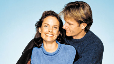 Sigrid Thornton and William McInnes in the original SeaChange.