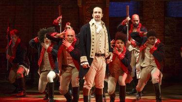 The original Broadway cast of Hamilton.
