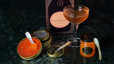 Inner-city dining room fleur now features a walk-in caviar menu.