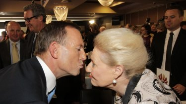 Former prime minister Tony Abbott and former speaker Bronwyn Bishop entered the Order of Australia this year.