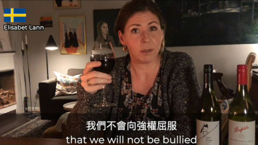 MPs from around the world have featured in a video campaign to convince people to drink an Aussie drop in December in response to China's move to impose high tariffs on Australian wine.