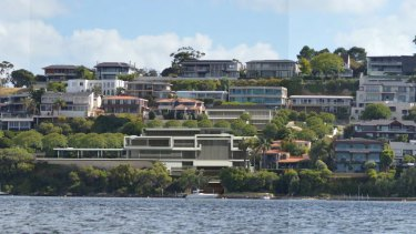 A concept image of a new home to replace Chris and Tia Ellison's Mosman Park mansion which is right next to the Swan River.