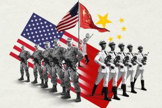 China-US superpower showdown: military strength.