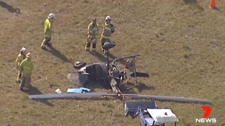 The pilot, in his 40s, was lucky to be alive after his gyrocopter crashed at the Caboolture airfield.