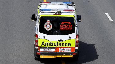 Paramedics took the woman to Princess Alexandra Hospital.