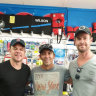 Hollywood stars Chris Hemsworth and Matt Damon spotted travelling up WA coast