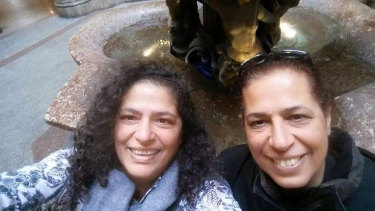 Dr Lily Pereg, left, and her sister Pyrhia Sarussi were found dead in Argentina.