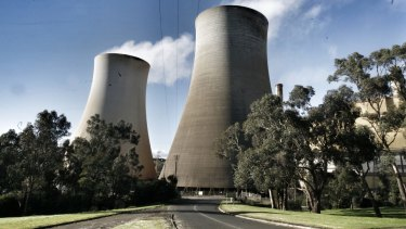 EnergyAustralia's Yallourn coal-fired power plant in the Latrobe Valley.