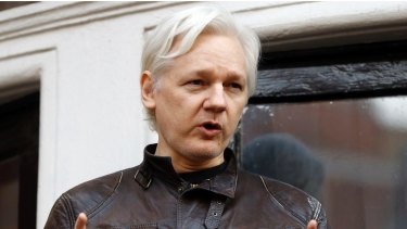 WikiLeaks founder Julian Assange  in 2017.