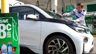 EVs, such as the BMW i3, only need a service station stop for air and the occasional windscreen wipe.